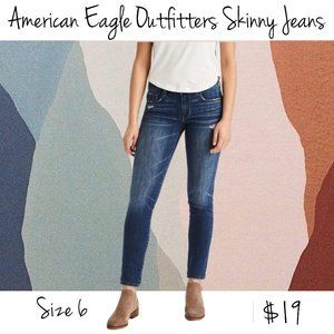 American Eagle Outfitters Skinny Denim Jeans Sz 6